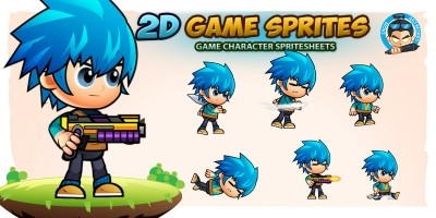 Bambi 2D Game Character Sprites