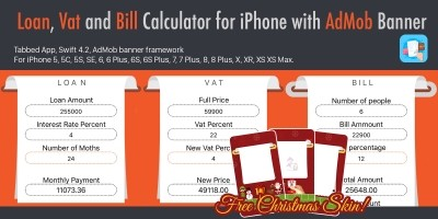 Loan VAT and Bill Calculator with AdMob For iOS