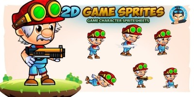 Rex 2D Game Character Sprites