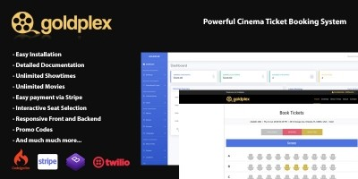 GoldPlex Cinema Ticket Booking System