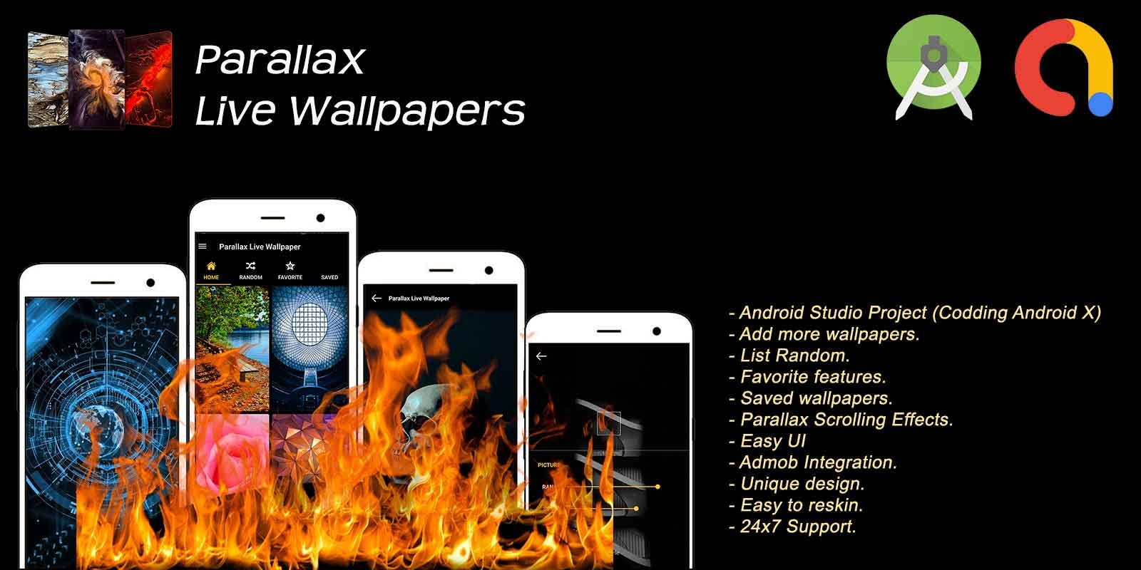Parallax Effect Live Wallpapers Android  Codester