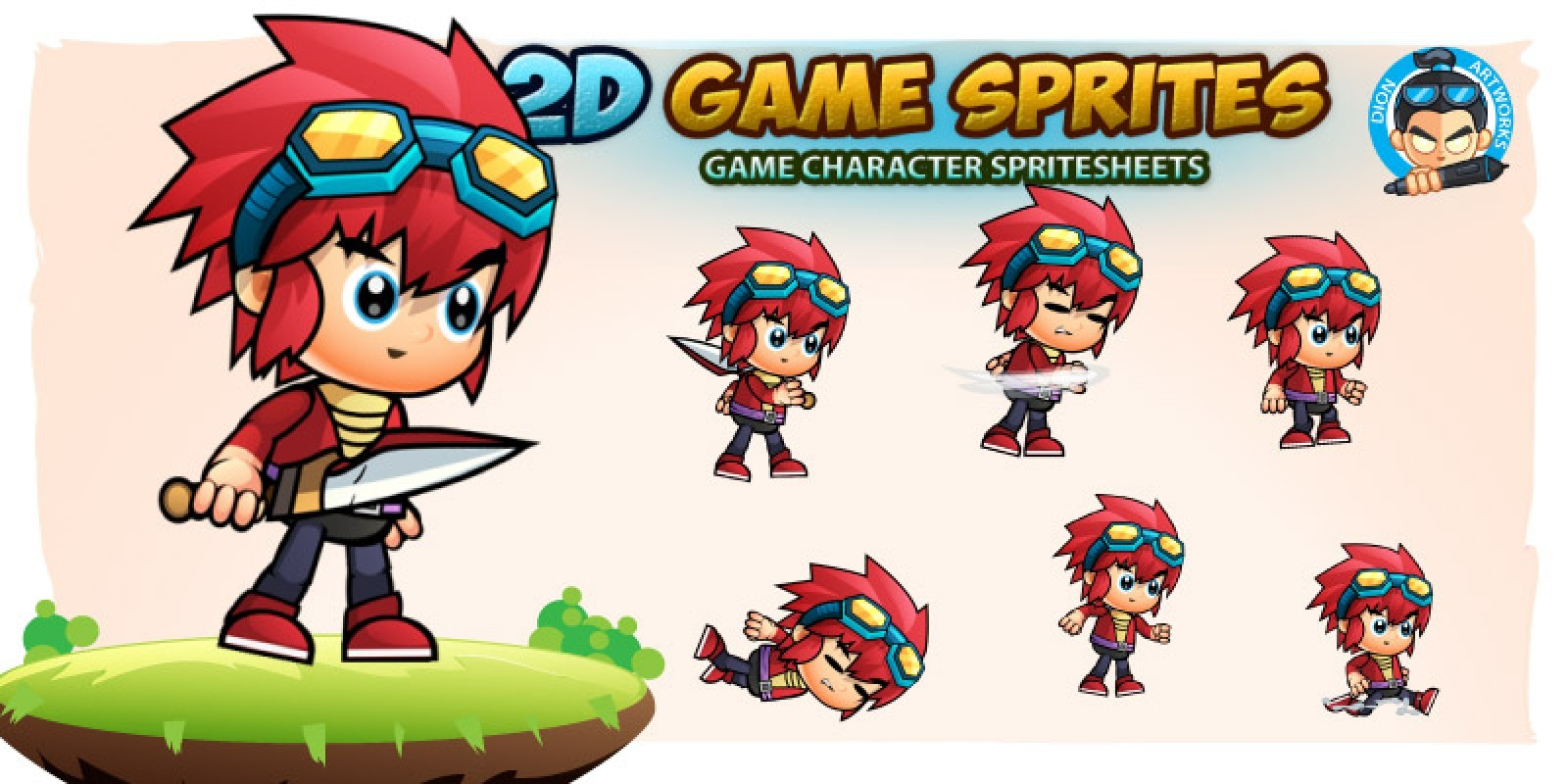 Oliver Game Character Sprites