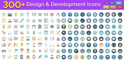 300 Design And Development Vector Icons Pack