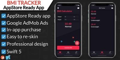 BMI Calculator and Tracker App iOS