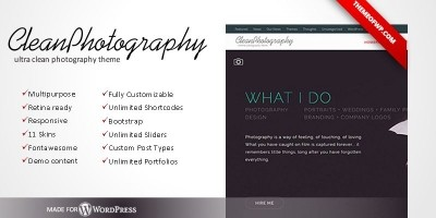CleanPhotography - Wordpress Photography Theme
