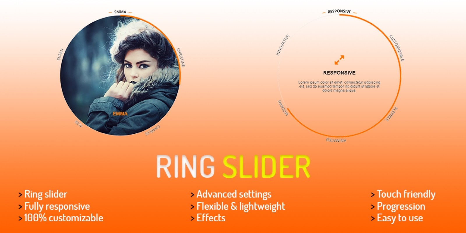 Ring Slider jQuery