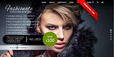 Fashionate - Wordpress Fashion Theme