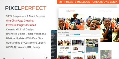 PixelPerfect - Wordpress Theme