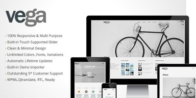 Vega - Wordpress Photography Theme