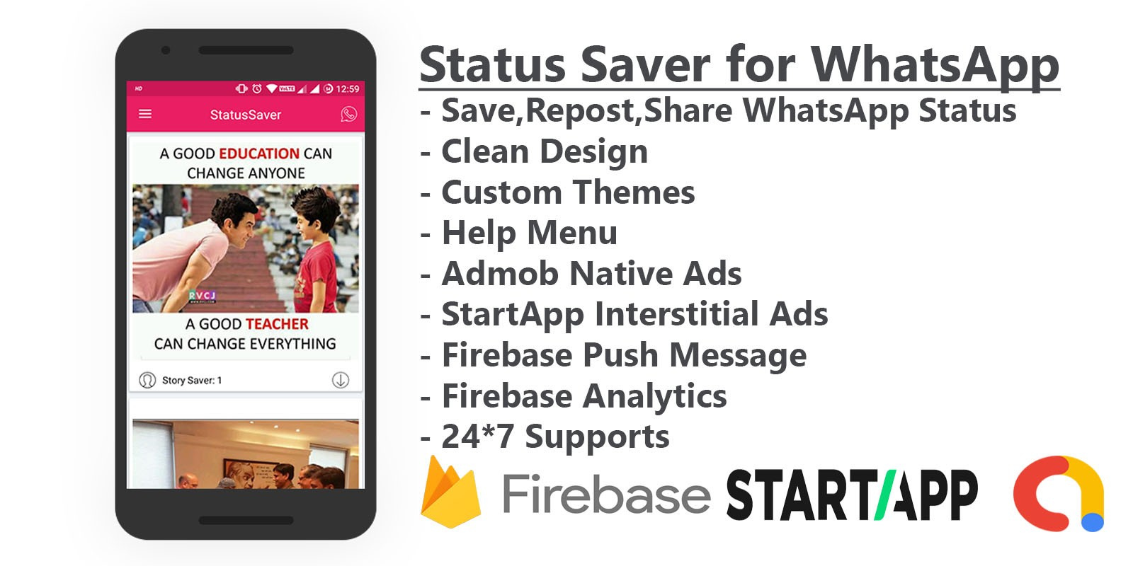 Status Saver For Whatsapp - Android Source Code
