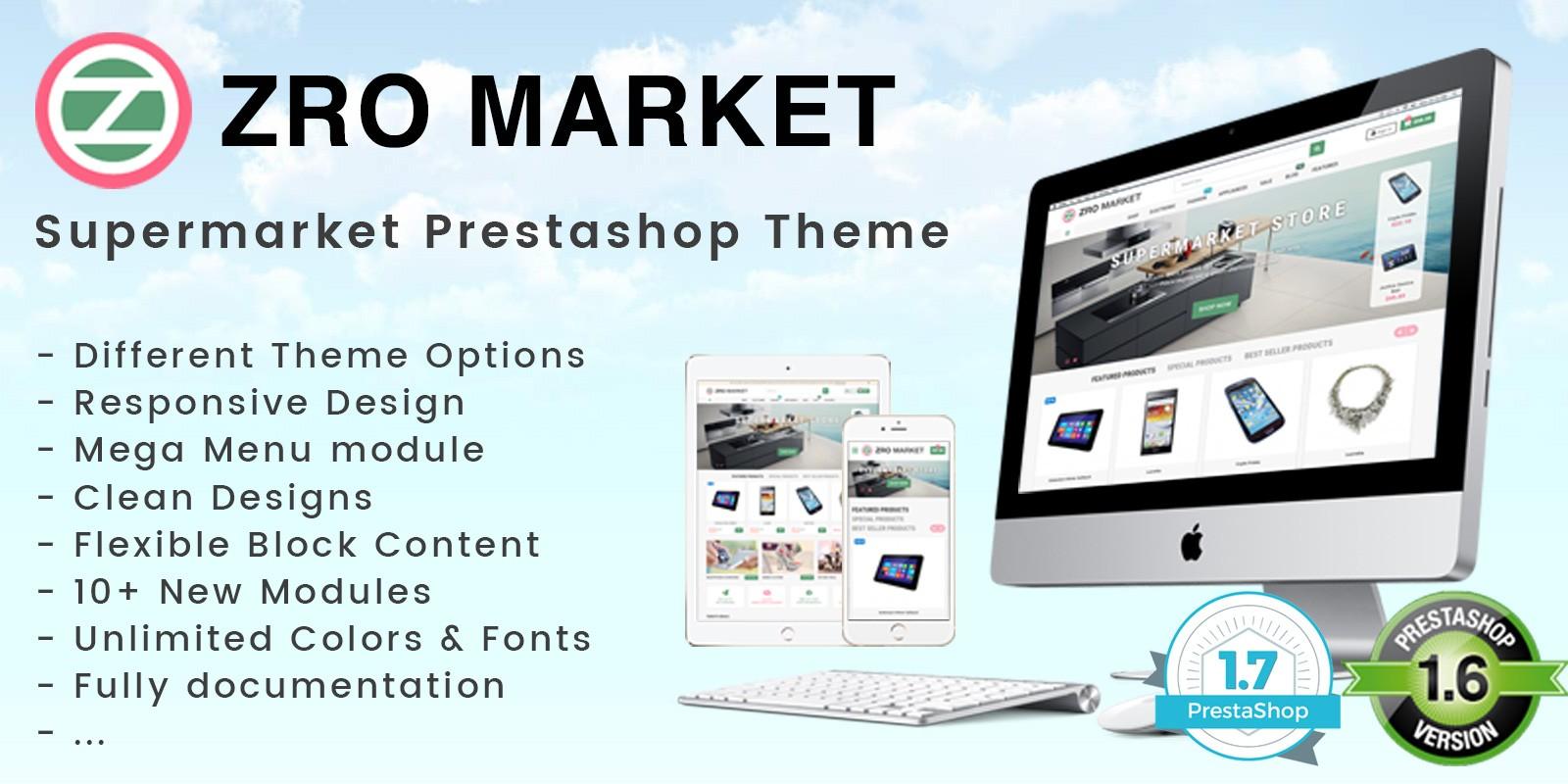 Zro Market - Premium Responsive PrestaShop Theme