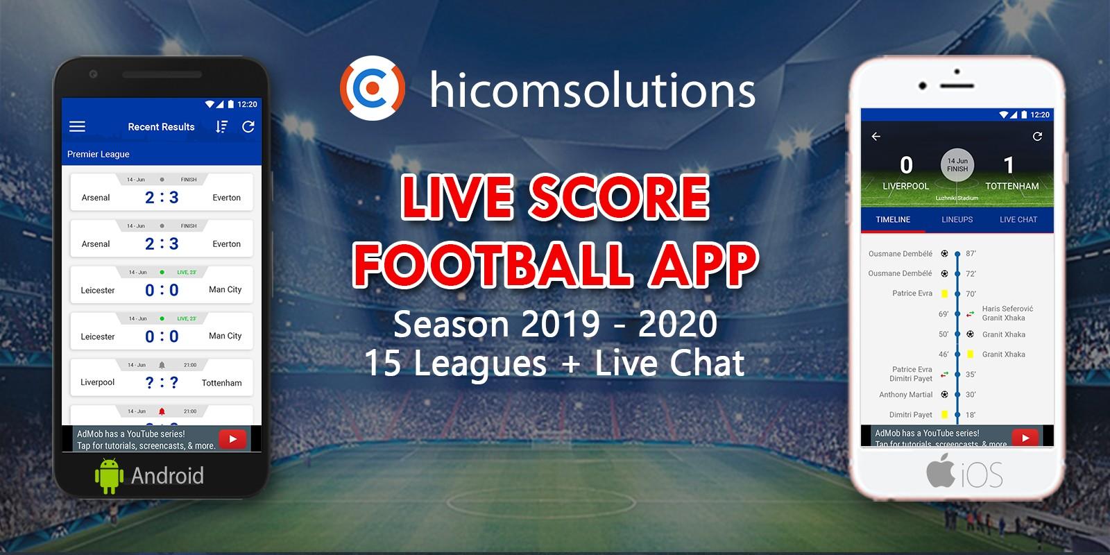 Livescore Football App Season 2019-20 For iOS