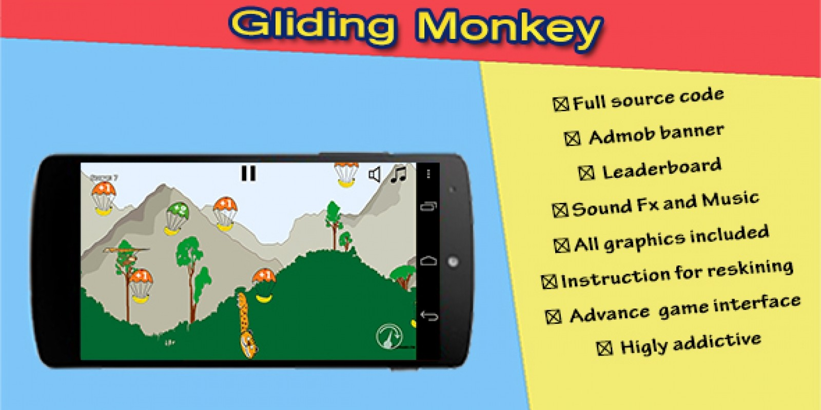 Gliding Monkey Trilogy Android Game Source Code