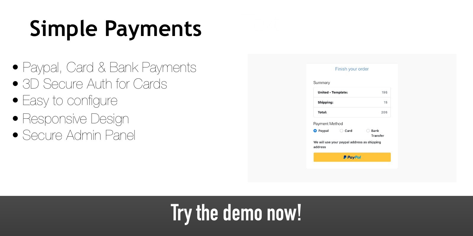 Simple Payments - Payment Gateway Script