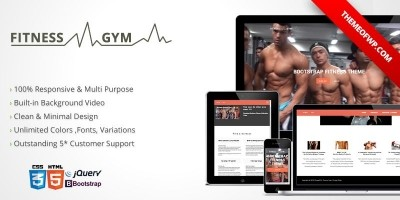 Fitness & Gym HTML Template