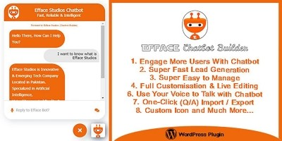 Efface Chatbot Builder For WordPress