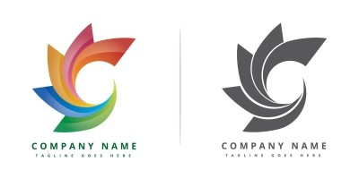 Colorful Circle Company Logo Design - Vector