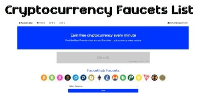 Cryptocurrency Faucet List PHP Script