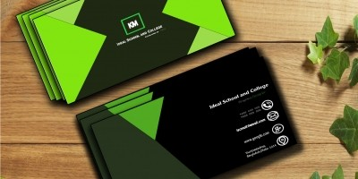 GreenBlack Business Card