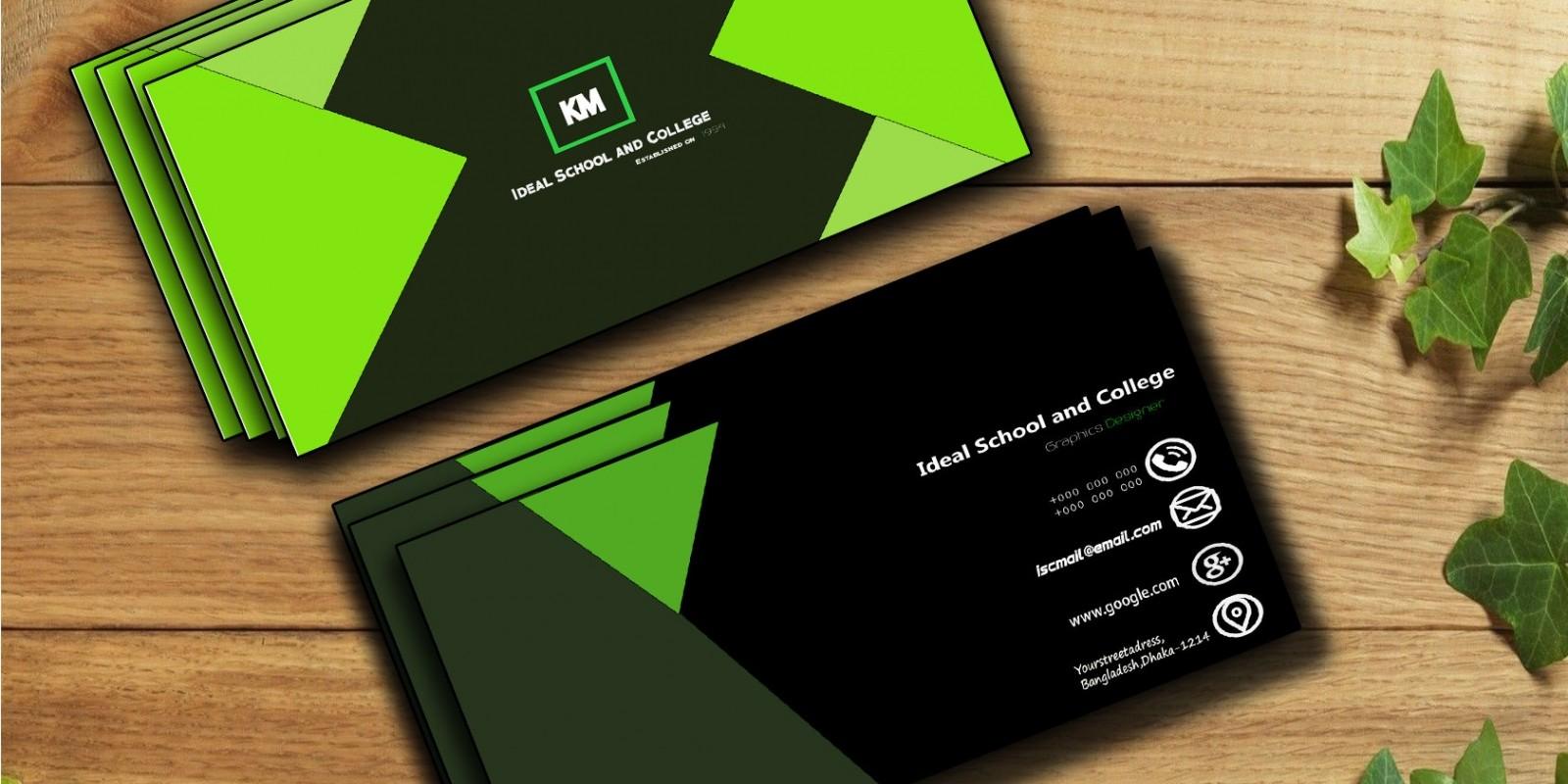 GreenBlack Business Card