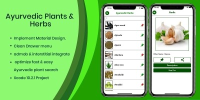 Ayurvedic Plants And Herbs - iOS Source Code