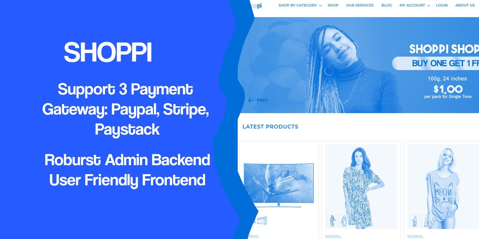 Shoppi - Ecommerce Online Shop PHP Script