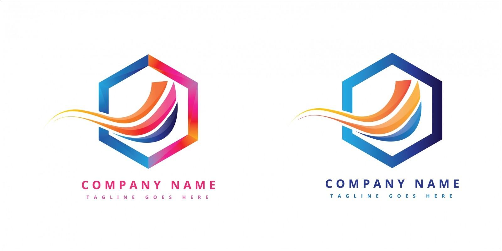 Futuristic Colorful Corporate Company logo