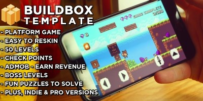 8 Bit Fox - Platform Game Buildbox Template