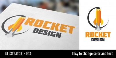 Rocket Design Logo