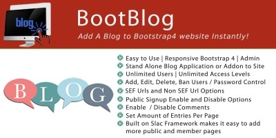 BootBlog PHP Script