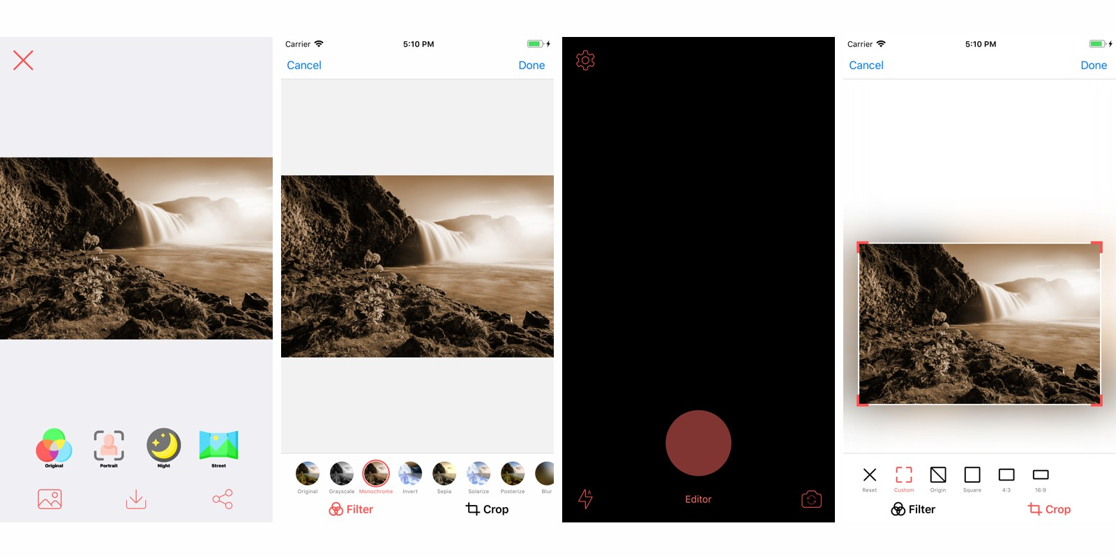 Camereditor - iOS Photo App Source Code