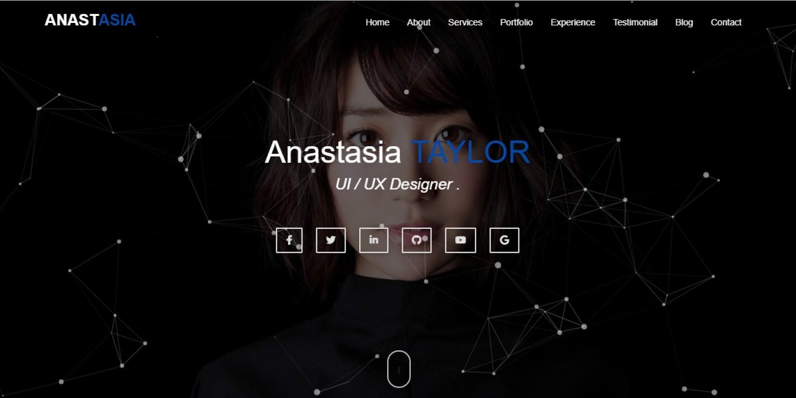 Anastasia - Personal Portfolio Responsive Template
