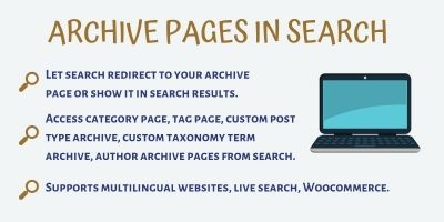 Archive Pages In Search Pro - WordPress Plugin