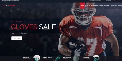 WS Rugby Woocommerce WordPress Football Theme