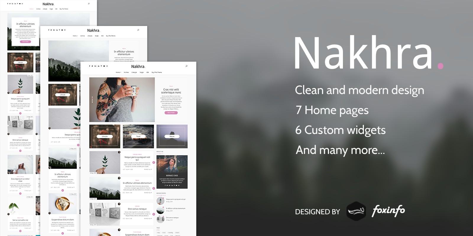 Nakhra - Blog And Magazine WordPress Theme