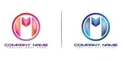 Futuristic modern And colorful M-Logo