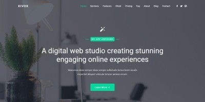 Kivox - Landing Page Template