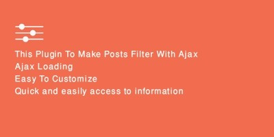 Ajax Posts Data Filter WordPress Plugin