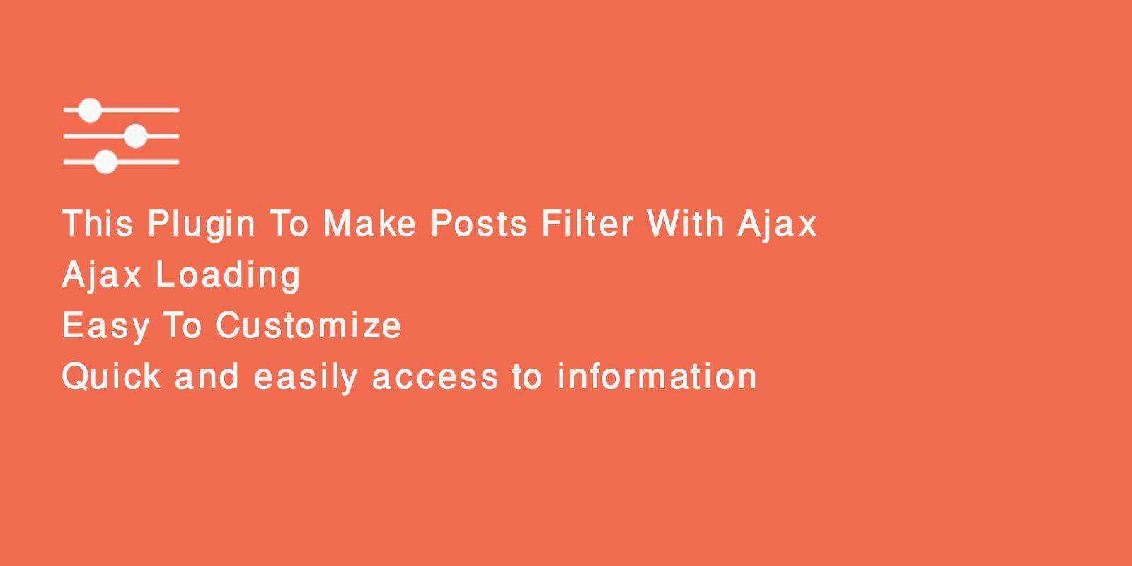 Ajax Posts Data Filter WordPress Plugin