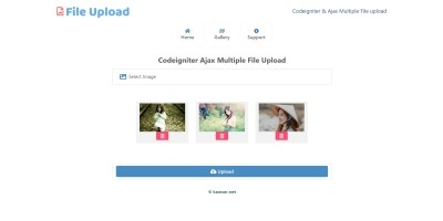 Codeigniter Ajax Multiple File Upload