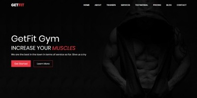 GetFit Gym - Responsive Fitness Club HTML Template