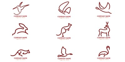 Line Art Animal Logo template