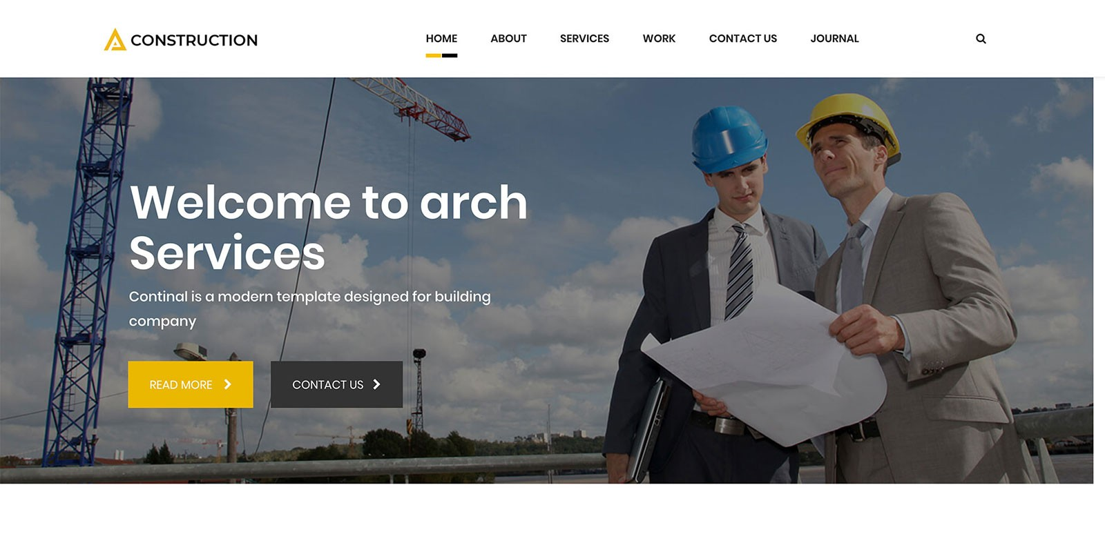 Arch - Construction Building WordPress Theme