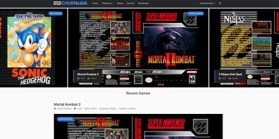 Emustalgia - Retro Gaming Catalog PHP Script