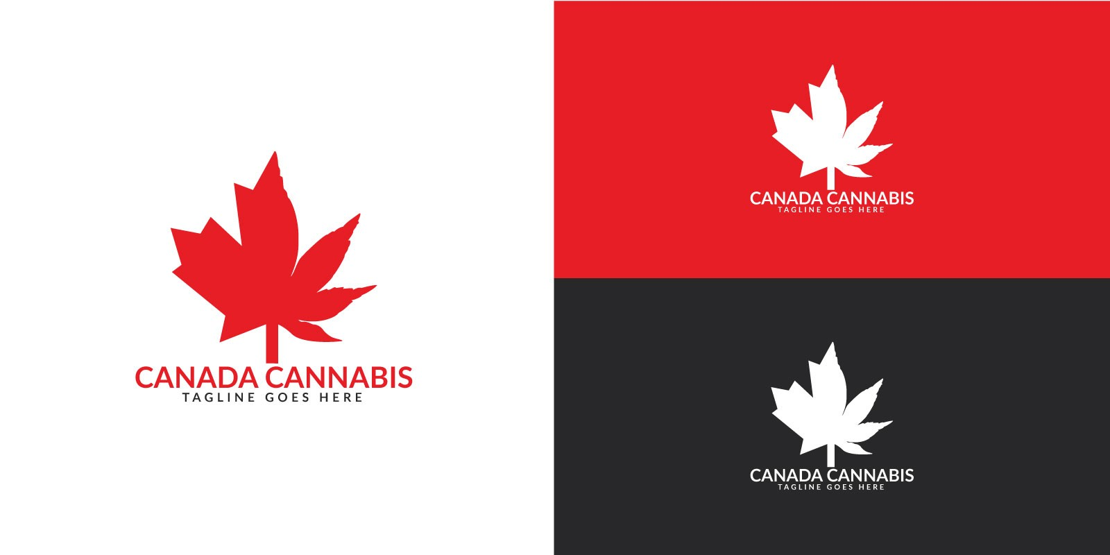 Canada Cannabis Logo Design
