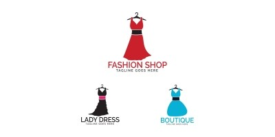 Dress Boutique Or Fashion Atelier Salon Logo