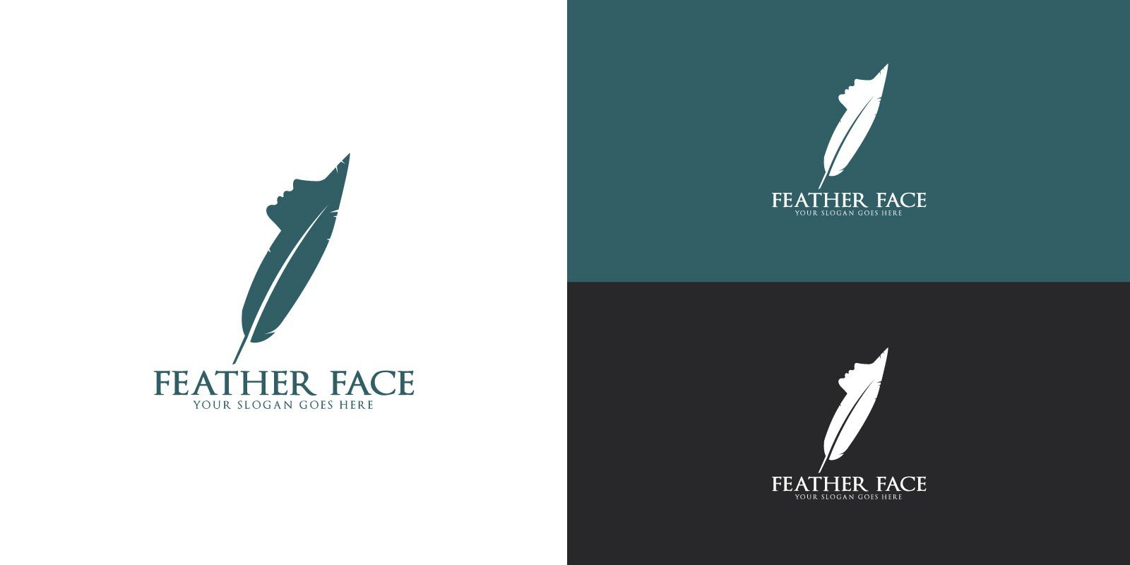 Feather Face Logo