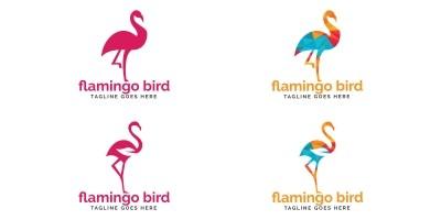 Flamingo Bird Logo Design