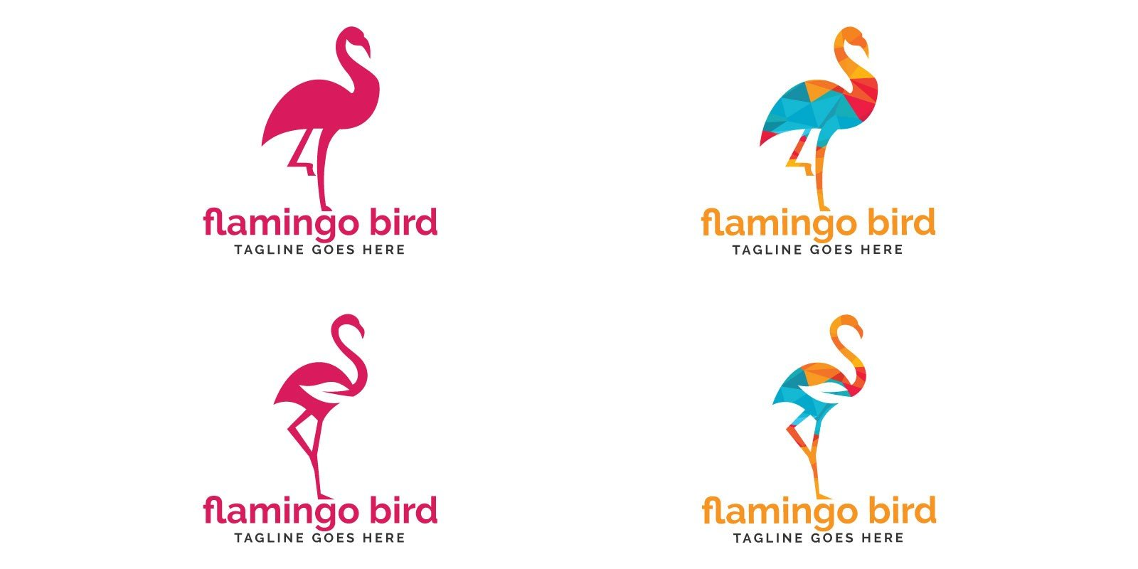 Flamingo Bird Logo Design