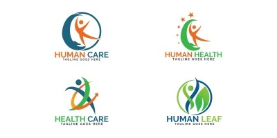 Abstract Human Health Care Logo